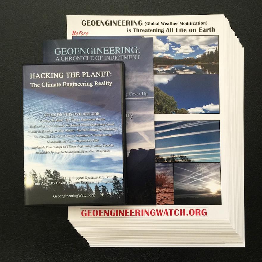 GeoengineeringWatch.org Flyers, Booklet, DVD