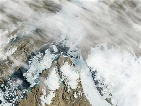 Iceberg twice Manhattan's size breaks off Greenland glacier