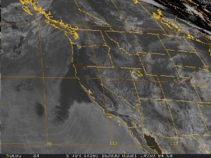 satellite grid spraying over pacific