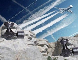 chemtrails on Mount Rushmore