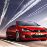 car ad with chemtrails