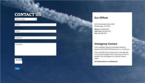 city website chemtrail form