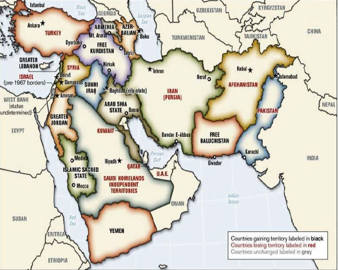 The New Map of the Middle East The New Map of the Middle East