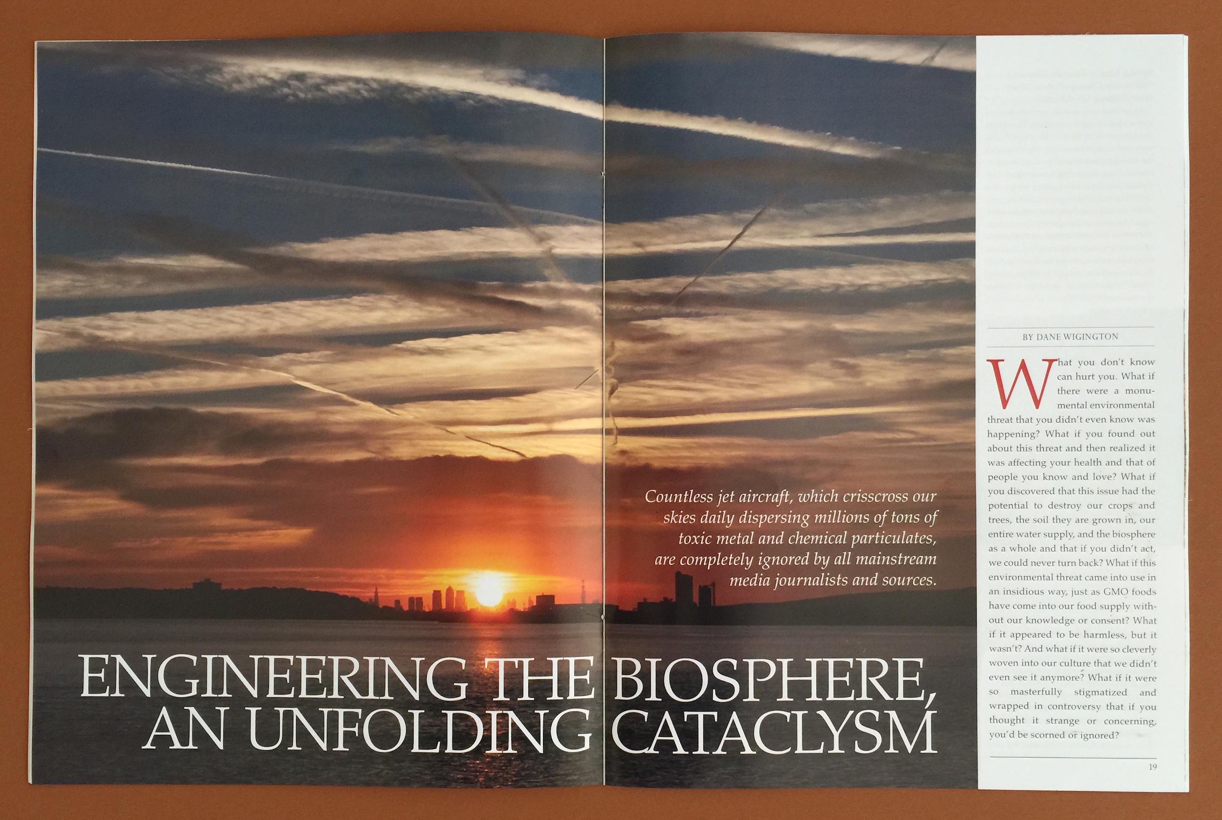 """La prestigiosa rivista scientifica """"Health freedom news"""" pubblica un articolo sulla geoingegneria clandestina"""
