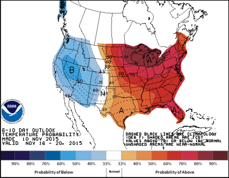 The Scenario Shown In This Noaa Map Is The Exact Anhesis Of The Constant Parade Of Engineered Cool Downs That Were Carried Out Over The Eastern Us Over