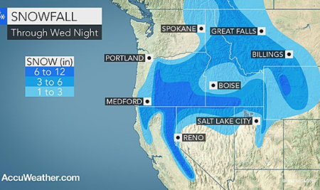 Does It Really Look Like The Us West Should Be Getting So Much Snow Even When The Temperatures In Many Of The Areas Receiving It Are Considerably Above
