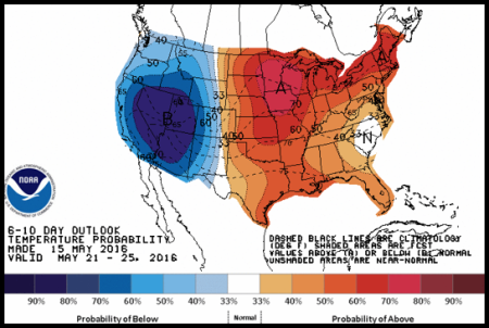 From Record Warmth In The Us West To Potential Record Cold The Record Cold In The East Will Flip To Possible Record Highs Each Color Shade Represents 2 3