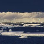 The calving front of the Totten ice shelf. Credit: Australian Antarctic Division
