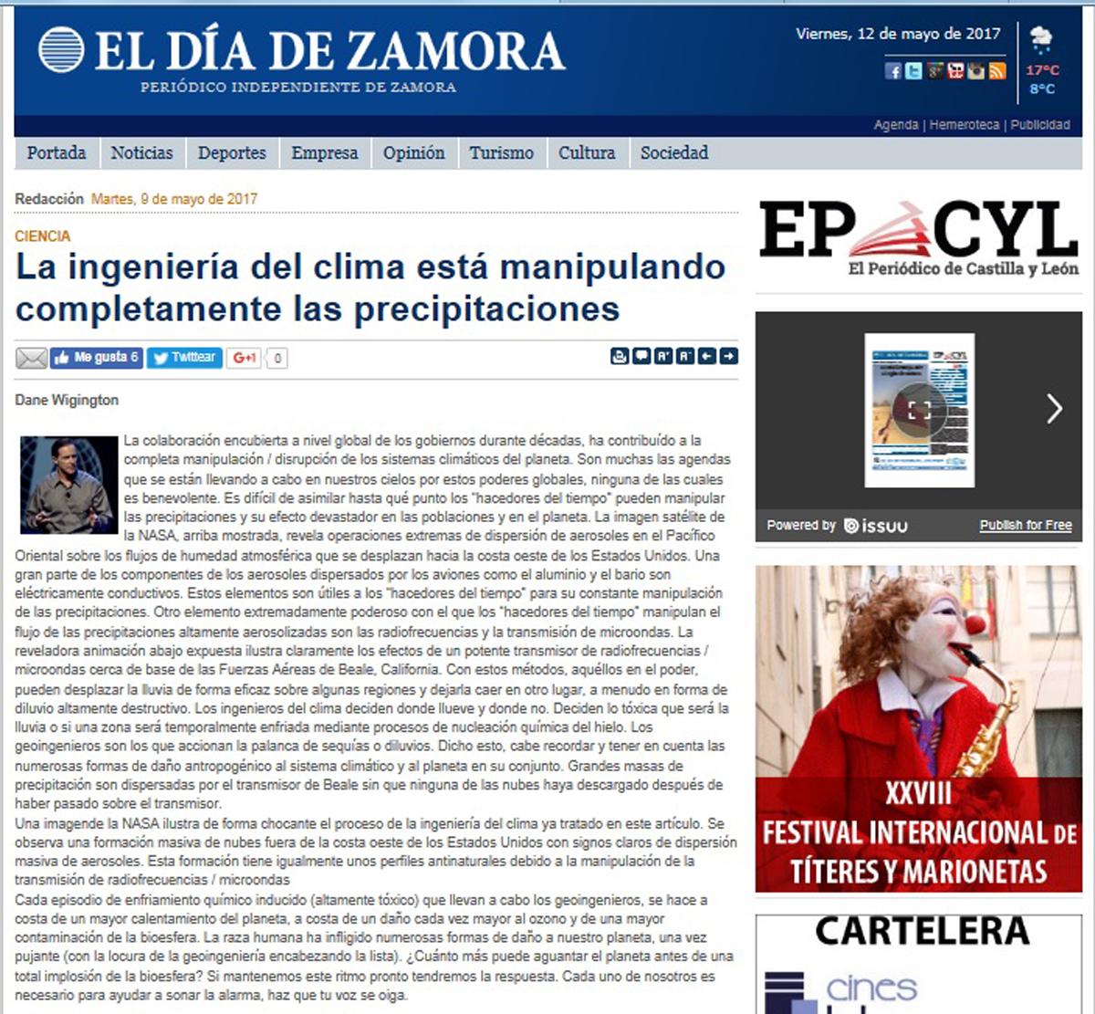 Article-Dane-Dia-de-Zamora-Journal-Spain
