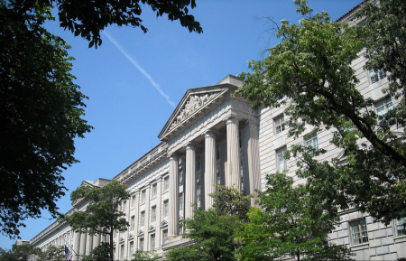 Commerce Department building in Washington, D.C.
