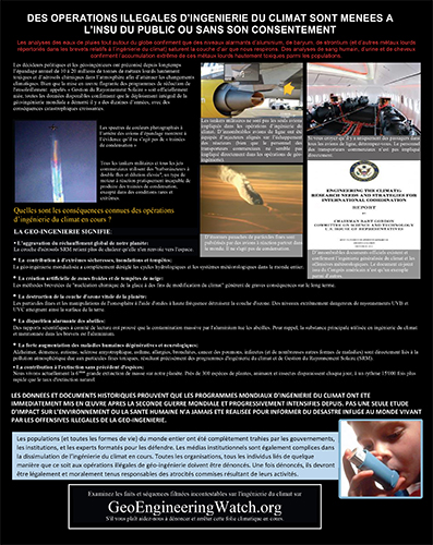 Geoengineering Watch Flyer